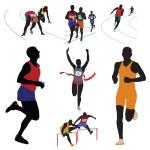 Runners — Stock Vector #7147141