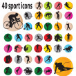 Sport icons — Stock Vector