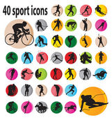Sport icons — Stockvector