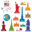 symbols city usa — Stock Vector