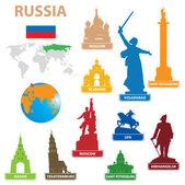Symbols city to Russia — Stock Vector