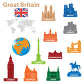 Symbols city to Great Britain — Stock Vector