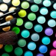 Makeup brushes — 图库照片