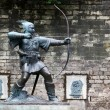 Statue Of Robin Hood at Nottingham Castle, Nottingham, UK — Stock Photo