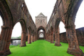 Sweetheart Abbey, ruined Cistercian monastery near to the Nith i — Stock Photo
