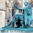 Statue of Constantine I outside York Minster in England , GB - Stock Photo
