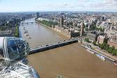 London Eye above city — Stock Photo