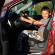 Boy driver in car — Stock Photo #6928403