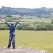 Boy at classic middle England landscape — Stock Photo #6931920