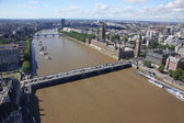 View from London Eye above London, United Kingdom — Stock Photo