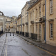 Old street in Bath, England with its typical Georgiarchitectu — Stock Photo #7004193