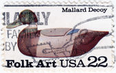 USA Folk Art Mallard Decoy — Stock Photo