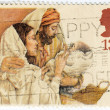 Stamp printed in UK shows Christmas — Stock Photo