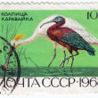 Stock Photo: USSR show bird heron