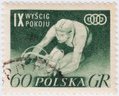 Polonia muestra ciclista — Foto de Stock