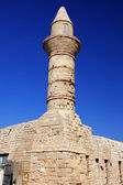 Old Beacon at Ceasarea, ancient Roman capital and port, Israel — Stock Photo