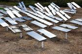 Renewable, alternative solar energy, sun-power plant — Stock Photo