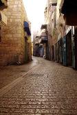 Antigua calle en belén - es la capital de la belén gobernar — Foto de Stock