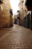 Old street in Bethlehem - is the capital of the Bethlehem Govern — Stock Photo