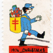 Postman in christmas — Stock Photo