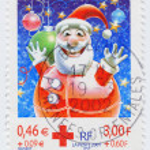 France show Santa — Stock Photo