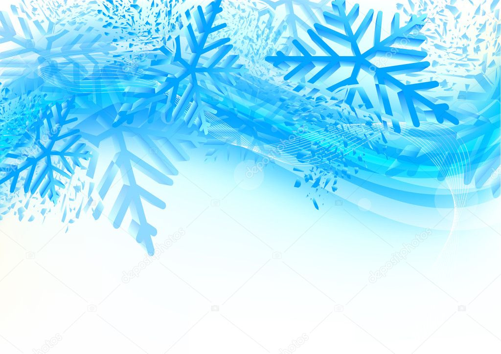 Background with snowflakes  Stock Vector #6888218