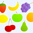 Set of fruits — Stock Vector #7438923