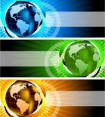 Banery z glob — Wektor stockowy