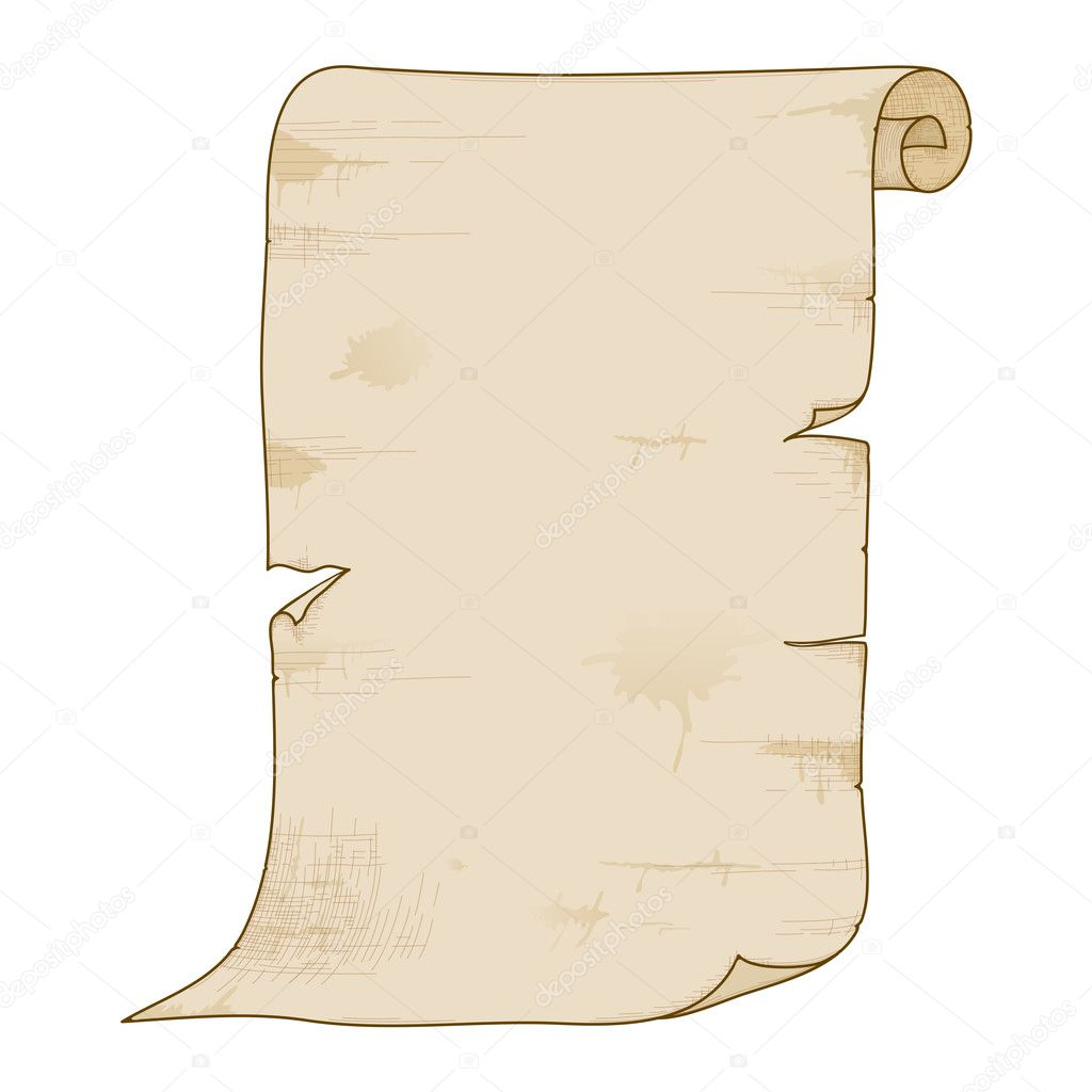 Vector old paper roll. — Stock Vector © AnnaChe #6879745  Old