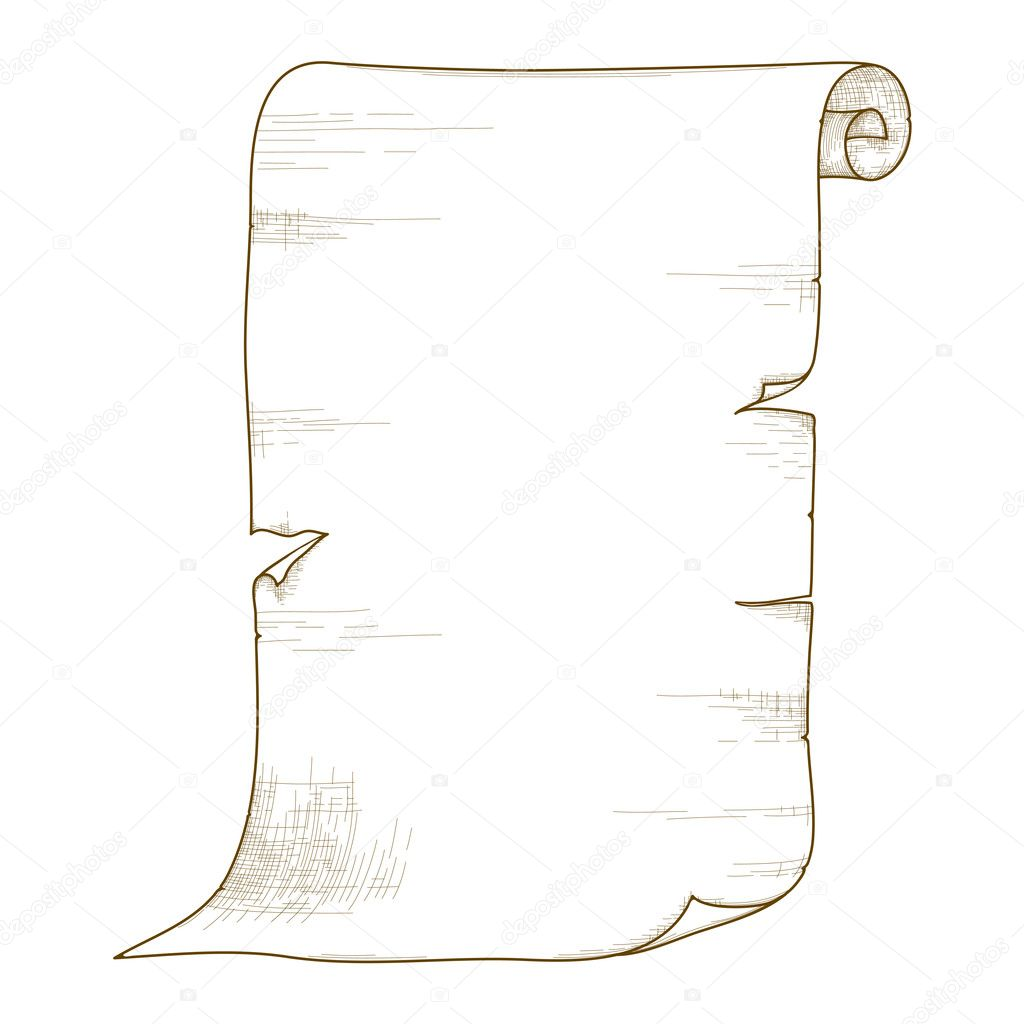 Vector old paper roll. — Stock Vector © AnnaChe #6879748  Old
