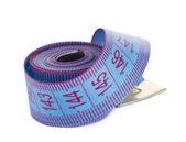 Blue measuring tape — Stock Photo