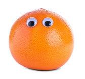 Orange grapefruit with eyes — Stock Photo