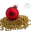 Christmas red sphere — Stock Photo
