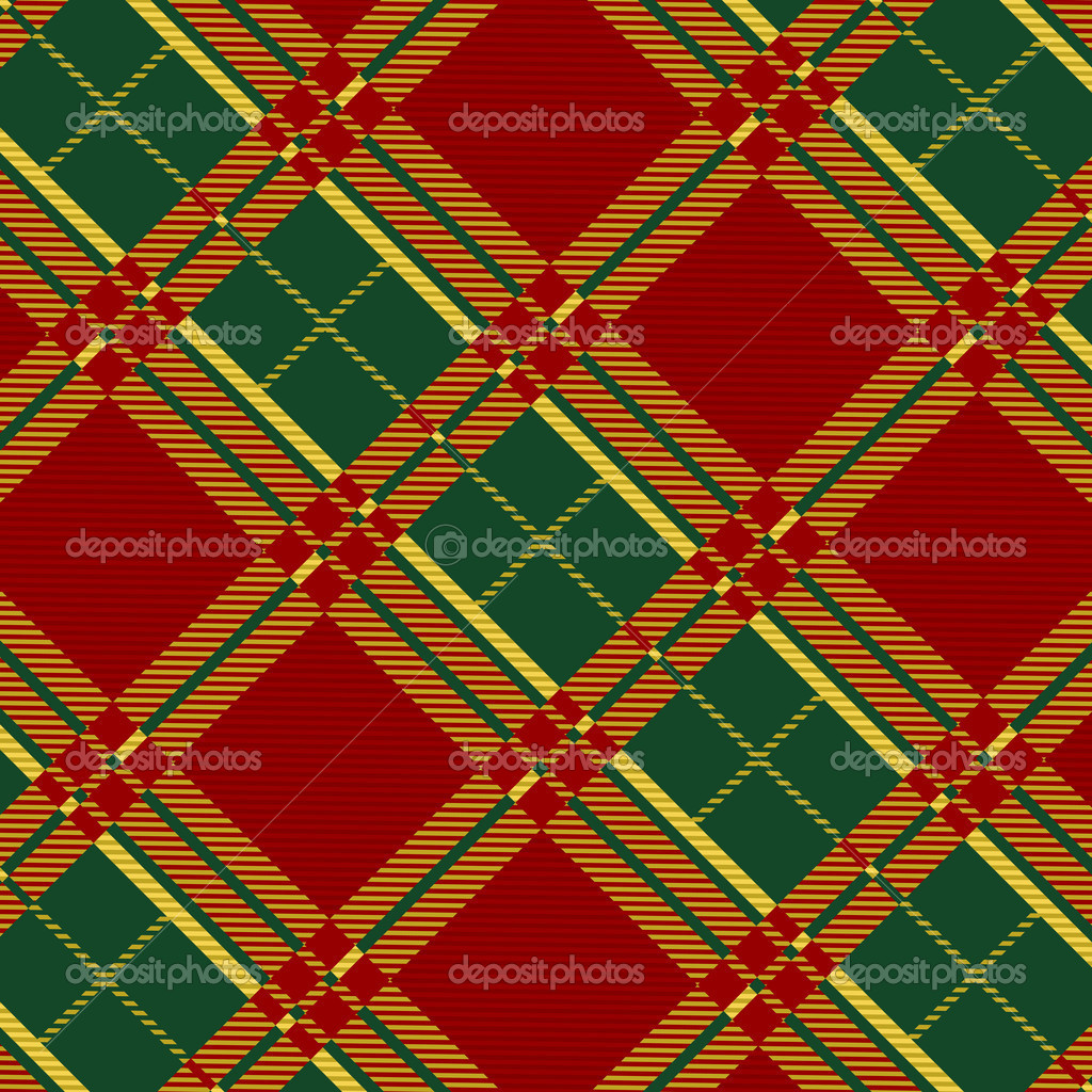 Seamless plaid fabric pattern background. Vector illustration. — Stok Vektör #6750607