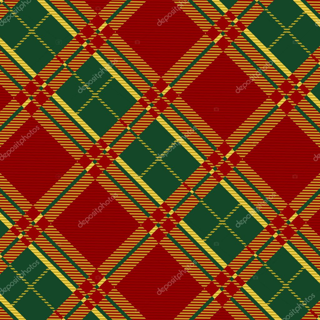 Seamless plaid fabric pattern background. Vector illustration.  Stock Vector #6750607