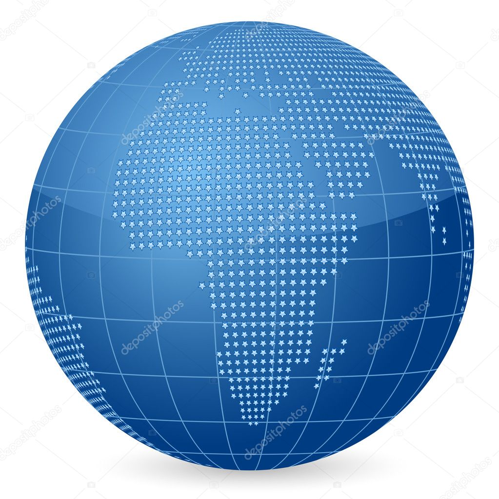World globe formed by stars. Vector illustration. — Stock Vector #6750610