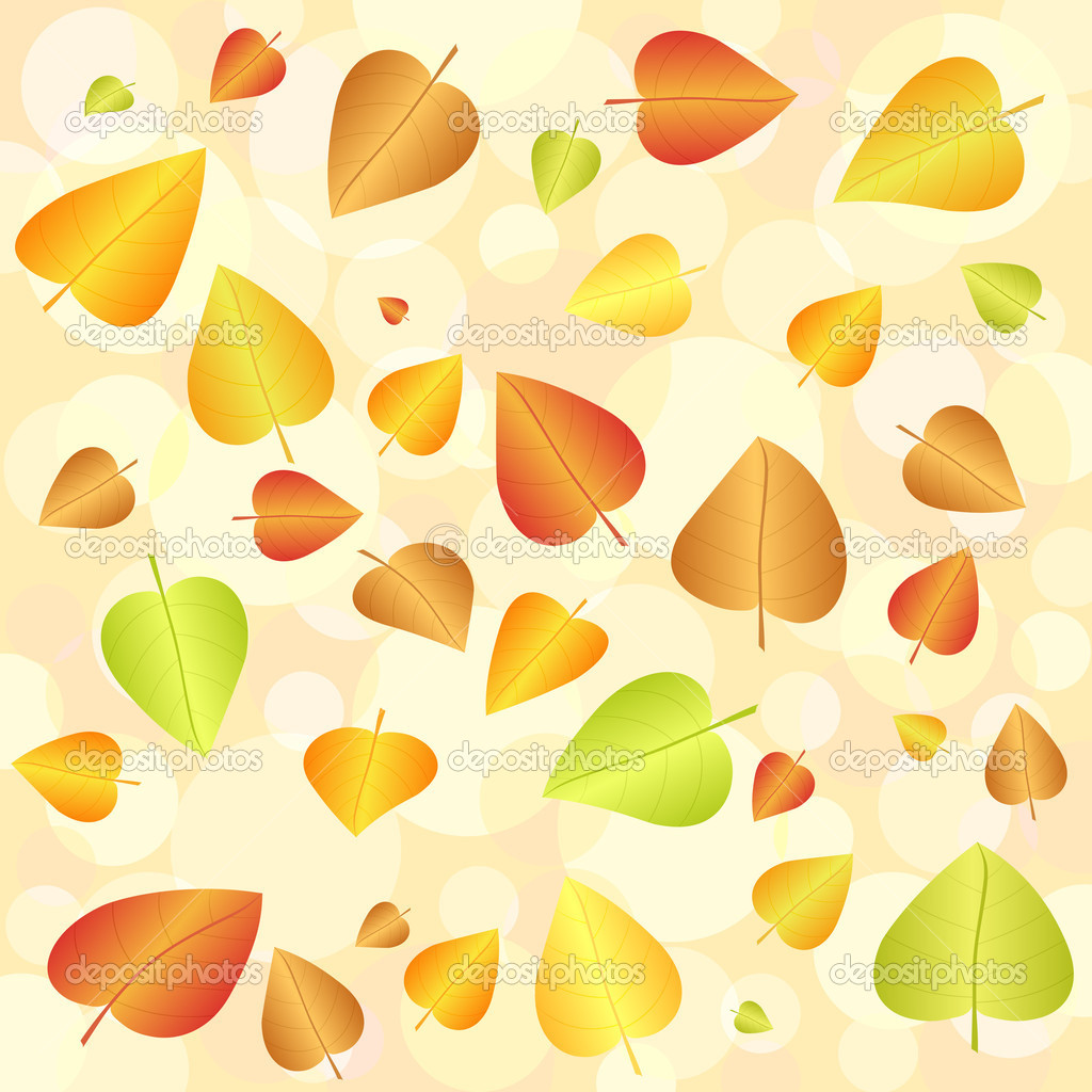 Abstract autumn leaf background. Vector illustration. — Stock Vector #6854969
