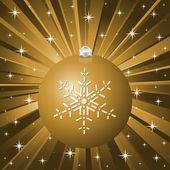 Fondo de navidad oro vector — Vector de stock
