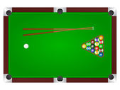 Pool table — Stock Vector