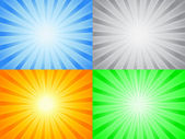 Abstract color sun — Stock Vector