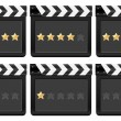 Film strip with stars 2 — Stock Vector #7316415