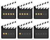 Clapper board with stars — Stock Vector