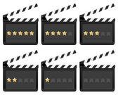 Clapper kurulu ile yıldız — Stok Vektör
