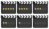 Film strip with stars 2 — Stock Vector