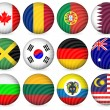 Royalty-Free Stock 矢量图片: National circle icon collection