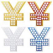 Jewelry yen symbol — Stock Vector