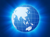 Blue world globe background 2 — Stock Photo