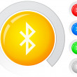 Stock Vector: Buttons bluetooth