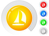 Buttons boat — Stock Vector