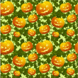 Seamless background with pumpkins — Vector de stock